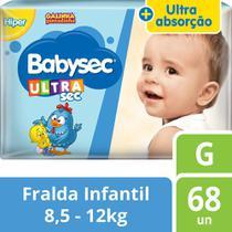 Fralda Babysec Galinha Pintadinha Ultrasec G - 68 Fraldas -