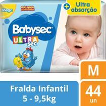 Fralda Babysec Galinha Pintadinha Ultrasec M - 44 Fraldas -