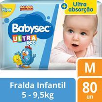 Fralda Babysec Galinha Pintadinha Ultrasec M - 80 Fraldas -