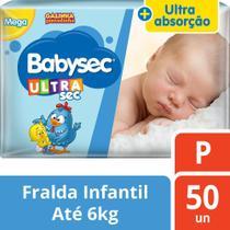 Fralda Babysec Galinha Pintadinha Ultrasec P - 50 Fraldas -