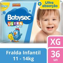Fralda Babysec Galinha Pintadinha Ultrasec Xg - 36 Fraldas -