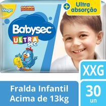 Fralda Babysec Galinha Pintadinha Ultrasec Xxg - 30 Fraldas -