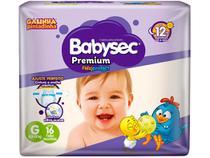 Fralda Babysec Premium Galinha Pintadinha Tam. G - 8,5 a 12kg 16 Unidades