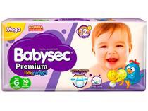 Fralda Babysec Premium Galinha Pintadinha - Tam. G 8,5 a 12kg 30 Unidades