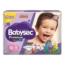 Fralda Babysec Premium Tamanho XG Pacote Mega 26 Fraldas Descartáveis -