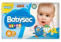 Fralda Babysec Ultra Sec - M - 44 unidades - ECONÔMICO -