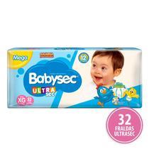 Fralda Babysec Ultra Sec - XG - 36 unidades - ECONÔMICO -