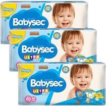 Fralda Babysec UltraSec Galinha Pintadinha XG - Kit com 96 Unidades - Baby Sec