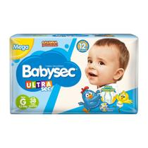 Fralda Babysec Ultrasec Tamanho G Pacote Mega 38 Fraldas Descartáveis -