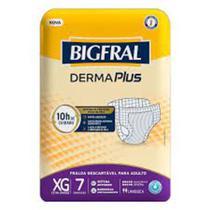 Fralda bigfral derma plus xg c/7  cod-880197 -