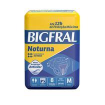 Fralda Bigfral Noturna Media  Combo Fardo Com 8 Pacotes -