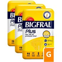 Fralda Bigfral Plus Grande Combo 3 Pacotes -
