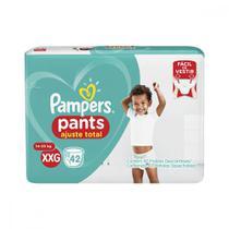 Fralda Calça Pampers XXG Pants Ajuste Total Hiper 42 unidades -
