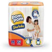 Fralda Calça Pom Pom Shortinhos c/20 unidades M - 6 a 10 kg - Pompom