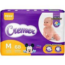 Fralda Cremer Baby Hiper Proteção Até Noite E Dia Tamanho M Com 68 Unidades -