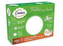 Fralda Cremer Luxo Branca - caixa c/5 - COM BAINHA -