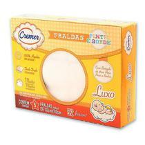 Fralda Cremer Luxo Branca - caixa c/5 - PINTE E BORDE -