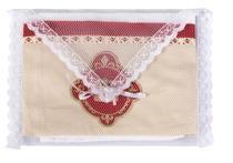 Fralda de ombro bordart enxovais cremer luxo dupla 100% algodão embalada em filó tema neutro -