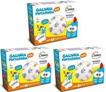 Fralda De Pano Cremer Galinha Pintadinha Kit C/ 3 Caixas - 70x68cm -