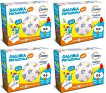 Fralda De Pano Cremer Galinha Pintadinha Kit C/ 4 Caixas - 70x68cm -