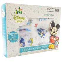 Fralda de Pano Disney Baby Mickey Cx c/ 5 Unids - Minasrey