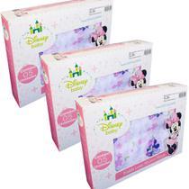 Fralda de Pano Disney Baby Minnie - 3 CXS - Cremer / Minasrey
