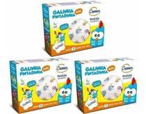 Fralda De Pano Galinha Pintadinha C/ Bainha Kit C/ 3 Caixas - Cremer