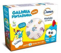 Fralda de Pano Galinha Pintadinha - CX c/ 5 Unids - Cremer