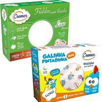 Fralda de Pano Galinha Pintadinha + Fralda Cremer Luxo - Cremer/Minasrey