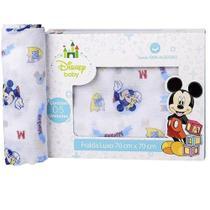 Fralda De Pano Luxo Disney Masculino Mickey Baby - Minasrey