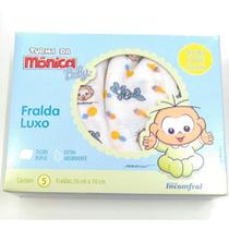 Fralda De Pano Luxo Turma Da Mônica Baby Menino - Inconfral