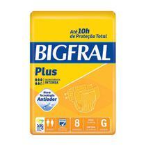 Fralda Descartável Adulto Big Fral G com 8 Und - G - Bigfral