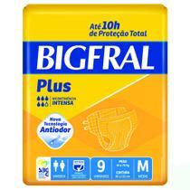 Fralda Descartável Adulto Big Fral M com 9 Und. - M - Bigfral