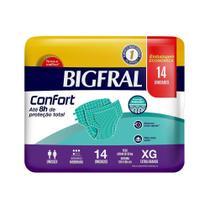 Fralda Descartável Adulto Bigfral Confort Extra Grande - 4 Pacotes c/ 14 unidades - Cremer