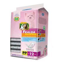 Fralda Descartável Chalesco Para Cães Fêmeas - Tamanho PP -