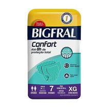 Fralda Descartável Geriátrica/Adulto Bigfral Confort Extra Grande 56 Tiras (8 Embalagens C/ 7 Tiras) -