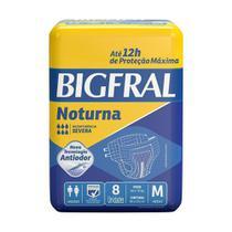 Fralda Descartável Geriátrica/Adulto Bigfral Plus Noturna Média 64 tiras (8 Embalagens c/ 8 tiras) -