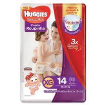 Fralda Descartável Huggies Turma Da Monica Roupinha Supreme Care Jumbo Extra Grande 9 Embalagens com 14 Unidades -
