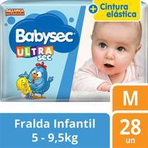 Fralda Descartável Infantil Babysec Ultra Sec M -