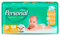 Fralda Descartável Infantil Personal Soft & Protect  P-50 und. até 6 Kg - SANTHER -