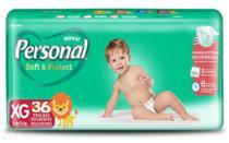 Fralda Descartável Infantil Personal Soft & Protect XG-36 und. de 12 a 16 Kg - SANTHER -