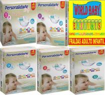 Fralda Descartável Infantil Personalidade Baby Total Care Pacotão -