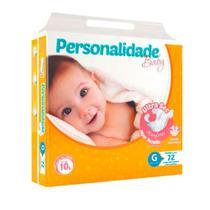 Fralda Descartável Infantil Personalidade Ultra Sec G C/72 - Eurofral -