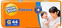 Fralda Descartável Infantil Pompom Clássica Mega G C/44 -