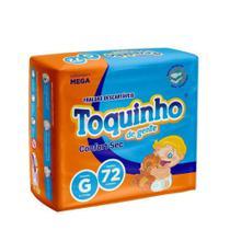 Fralda Descartável Infantil Toquinho Confort Sec Mega G C/72 - Diguinho Toquinho -