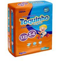 Fralda Descartável Infantil Toquinho Confort Sec Mega Sxg C/54 - Diguinho Toquinho -