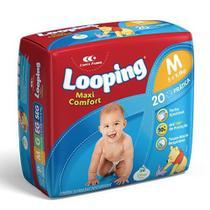 Fralda Descartável Looping Maxi Confort Prática M 20 Unidades - Disney -