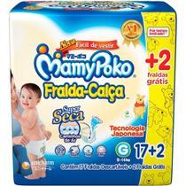 Fralda Descartável MamyPoko Calça Jumbo Super Seca Tam. G (Leve 114 e Pague 102 Fraldas) - Mamy Poko