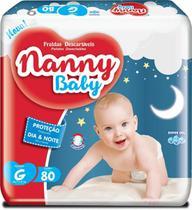 Fralda Descartável Nanny Baby G Com 80 Unidades Revenda -