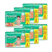 Fralda Descartável Personal Soft&Protect Mega Media 6 Embalagens c/ 54 Tiras -